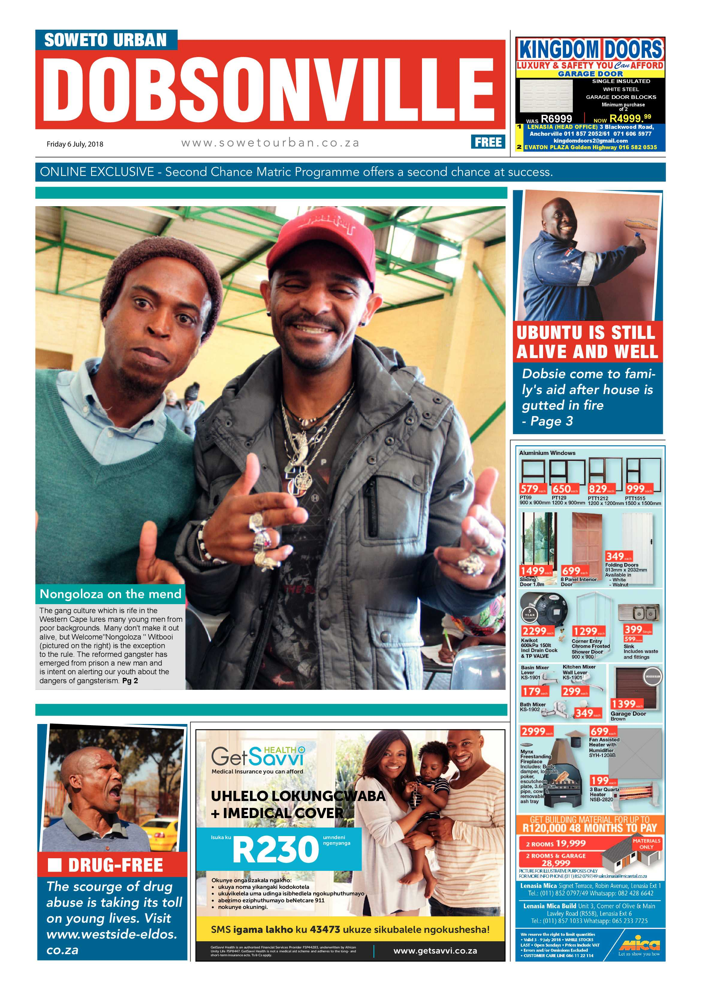 6 July 2018 Released Movie: Dobsonville – July 6, 2018 Issue