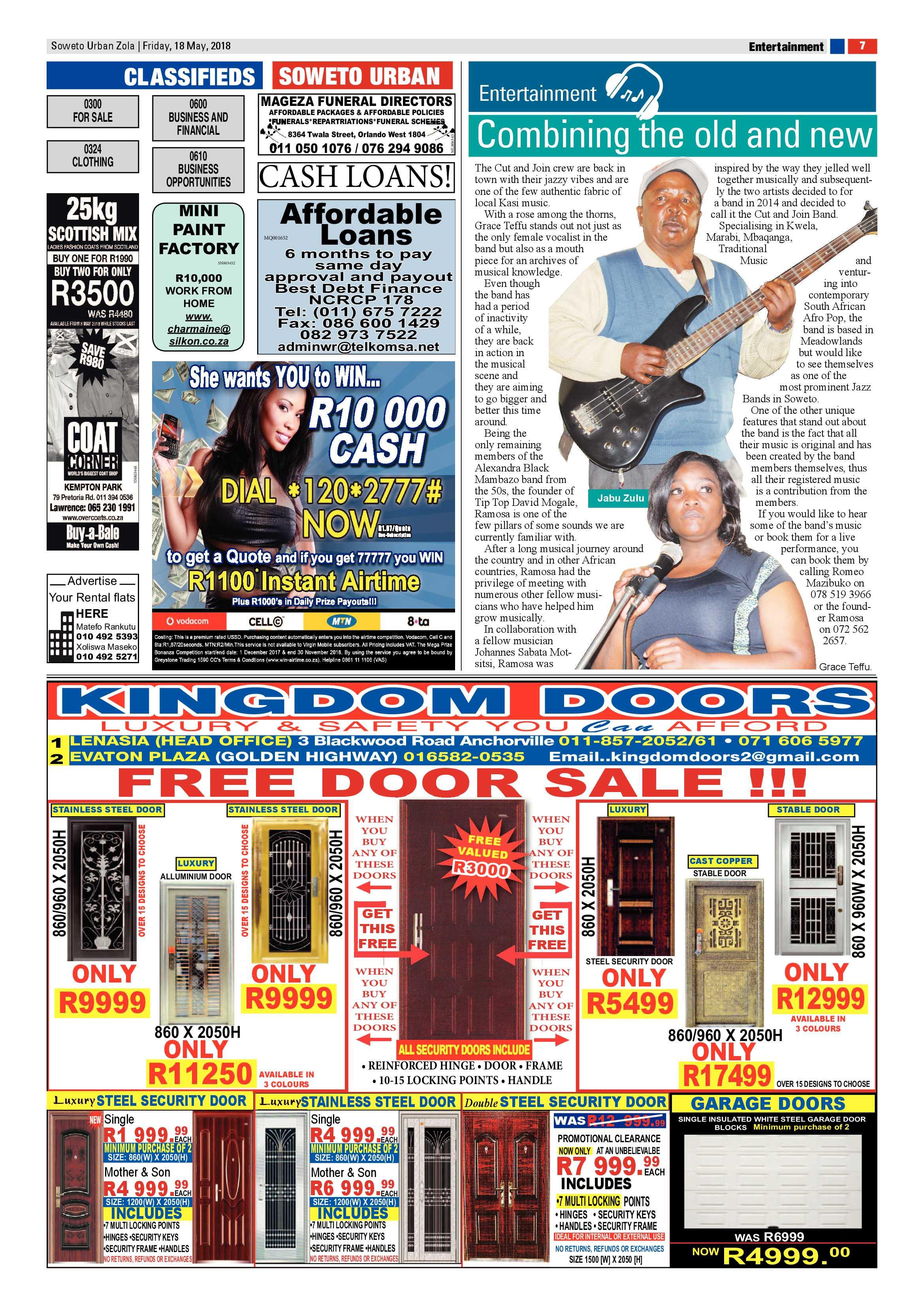 Zola – May 18, 2018 issue | Soweto Urban
