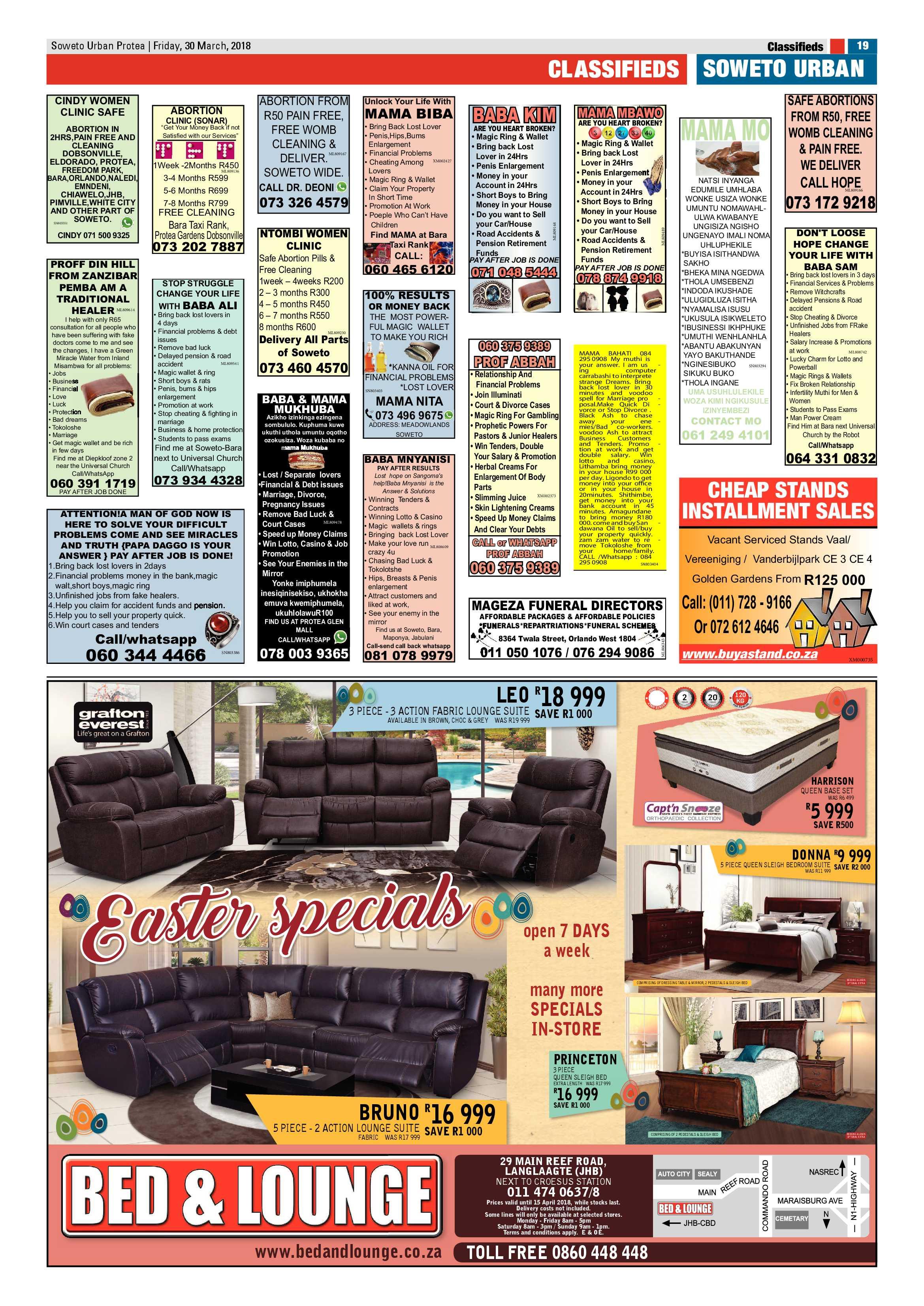 Protea – March 30, 2018 issue | Soweto Urban